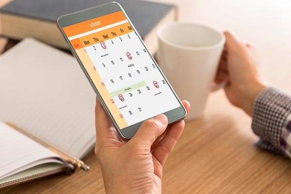 Schedule on a calendar as reminders